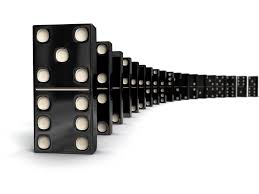 falling dominoes